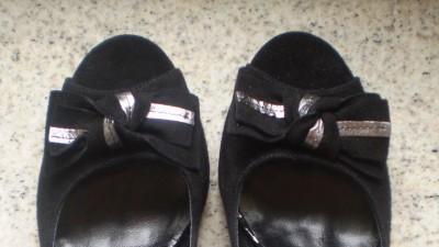 Buty Piu Bella czarne zamszowe rozm.38 (nowe)