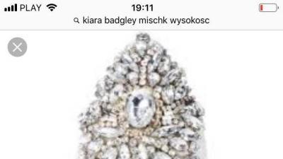 Buty platforma krzyształki Badgley Mischka Kiara ślub panna młoda prezent okazja!