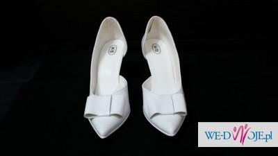 Buty ślubne - białe lakierki rozm. 37