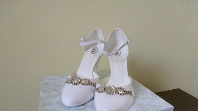 Buty ślubne BIAŁE romiar 37