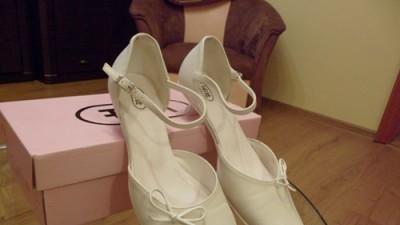Buty ślubne ecru, rozmiar 38