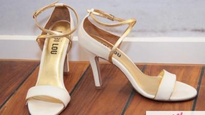 Buty ślubne i nie tylko złamana biel złoto r 38 Nowe