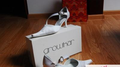 Buty ślubne renomowanej firmy Growikar - rozmiar 37-37,5, nowe