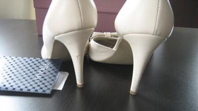 buty ślubne Ryłko Estima rozm. 38,5 kolor: krem/ ivory
