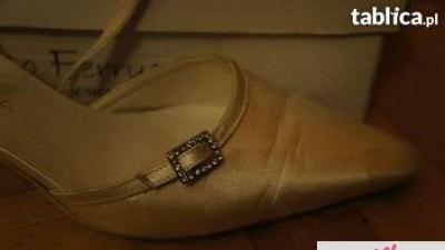 Carlo Ferrucci buty skórzane IVORY ślubne 38