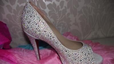 Ch.Louboutin buty kryształowe Swarovski do ślubu