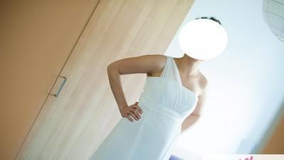 Ciążowa suknia ślubna, 170 cm + 9 cm obcas