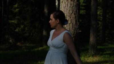 Ciążowa suknia ślubna Maja