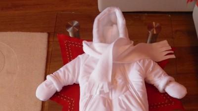 cieplutkie ubranko do chrztu rozmiar 62-68