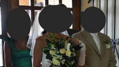 Cudna lśniąca suknia ślubna