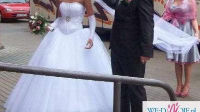 Cudowna suknia księżniczka tiulowa