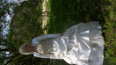 Cudowna suknia ślubna farage 36-38 ecru!