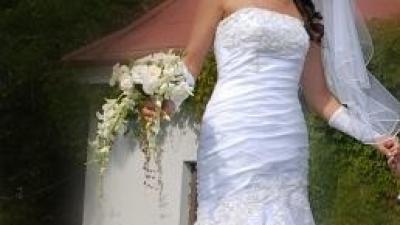 Cudowna suknia ślubna Sweetheart 5832 rozmiar 36/38