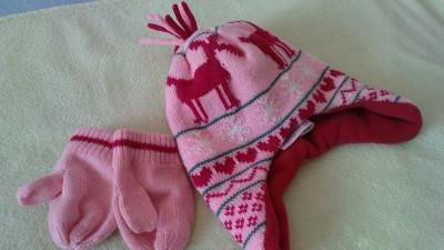 Czapka + rękawiczki 1-1,5