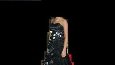 Czarna satynowa sukienka