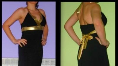 czarna sukienka 36