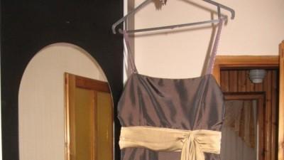 Czekladowa sukienka rozm 36