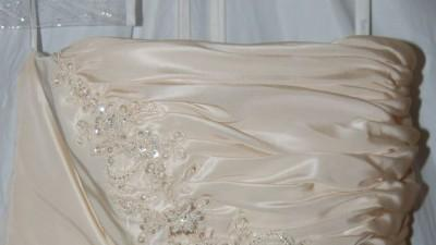 DAVID'S BRIDAL Suknia Ślubna - jak NOWA ecru