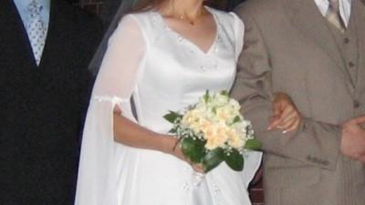 Delikana, biała suknia, roz. 38