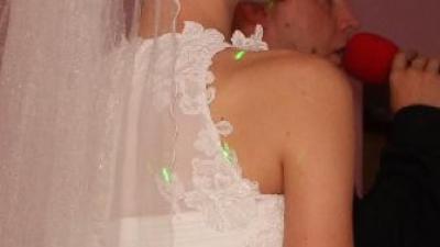Delikata suknia śluba