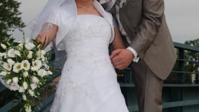 Delikatna i piękan suknia ślubna