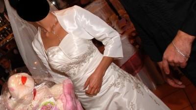 delikatna suknia ślubna rozm. 38