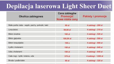 Depilacja Laserowa Light Sheer Duet Kraków - Perfect Estetic