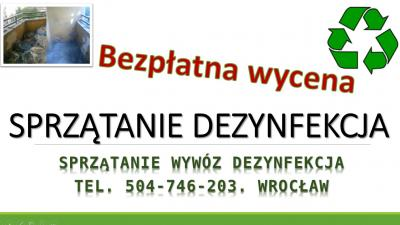 Dezynfekcja pomieszczeń, cennik tel. 504-746-203. Oczyszczanie lokali, Wrocław