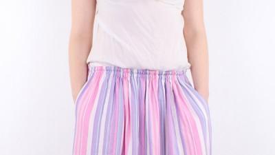 Długa spódnica maxi w paski