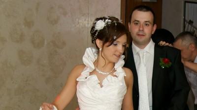 Do sprzedania śliczna biała suknia ślubna