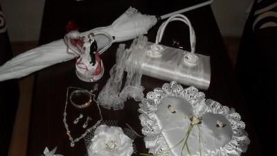 dodatki ślubne wkomplecie lub pojedynczo sprzedam