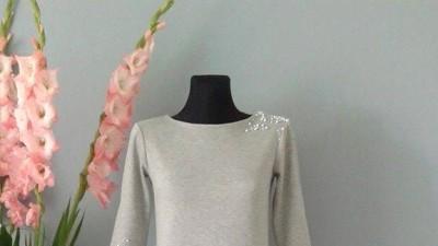 dresowa sukienka z perełkami!