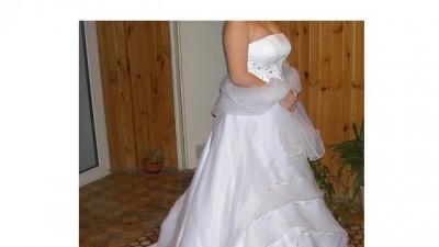 dwuczęściowa suknia ślubna jasny ecru 36-38