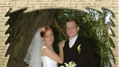 Dwuczęściowa suknia ślubna / jasny ecru