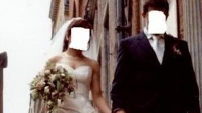 Ecru suknia ślubna