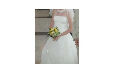 Efektowana suknia z salonu Promesa