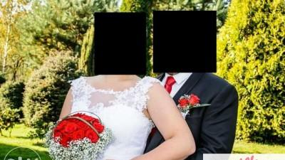 Ekskluzywna biała suknia ślubna r. 42/44