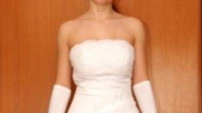 elegancka biała sukienka ślubna