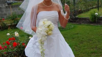 Elegancka, biała suknia PERSA rozm. 38