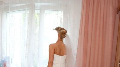 Elegancka biała Suknia ślubna styl Princess rozm. 38