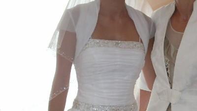 Elegancka, biała suknia ślubna w dobrej cenie!