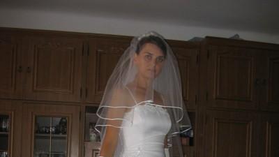 ELEGANCKA biała suknia ślubna z GRATISAMI!!!
