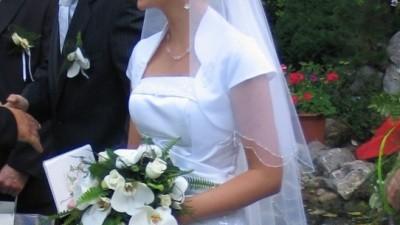 ELEGANCKA DELIKATNA suknia ślubna r.36