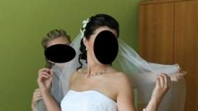 Elegancka i kobiecka suknia ślubna