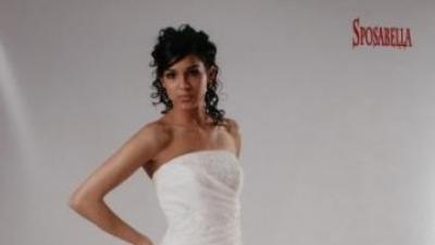 Elegancka Sposabella 371 38-40 biała jednoczęściowa