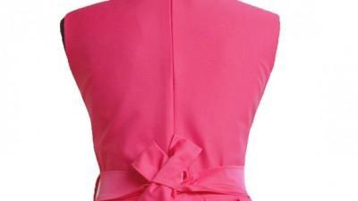 Elegancka sukienka dziewczęca szarotka malinowa + bolerko