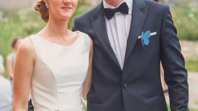 Elegancka suknia Margarett Holy - 2w1 - ecru, mikado