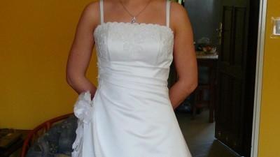 Elegancka suknia slubna 36-38