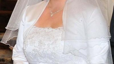 Elegancka suknia ślubna 42-44