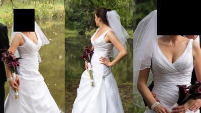 Elegancka Suknia ślubna + dodatki OKAZJA! 650zl